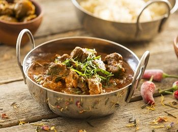 Kashmiri lamb curry + basmati rice