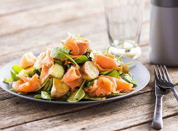 Smoked salmon + potato salad